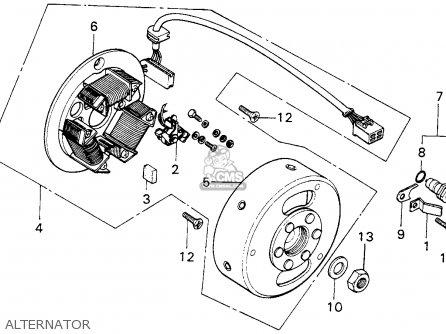 honda mt125 elsinore 1974 k0 usa parts lists and schematics
