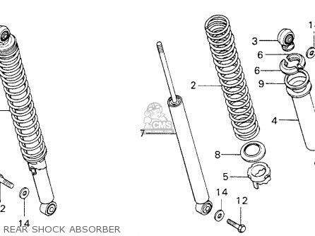 Honda Mt125 Elsinore 1974 K0 Usa Rear Shock Absorber