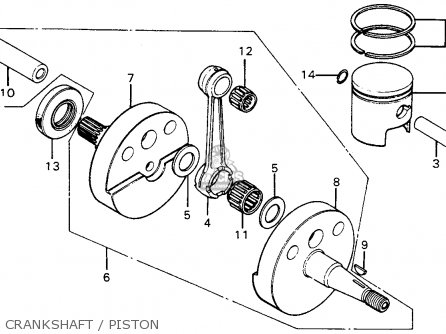 Honda Mt125 Elsinore 1974 Mt125k0 Usa Crankshaft   Piston