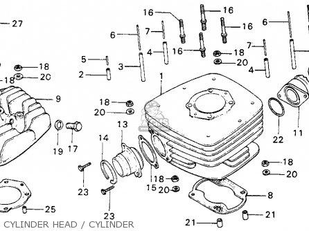 Honda Mt125 Elsinore 1974 Mt125k0 Usa Cylinder Head   Cylinder