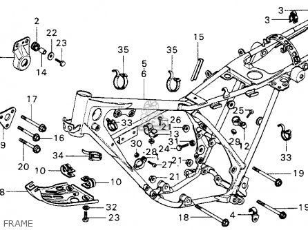 Honda Mt125 Elsinore 1974 Mt125k0 Usa Frame