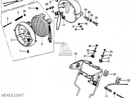 Honda Mt125 Elsinore 1974 Mt125k0 Usa Headlight