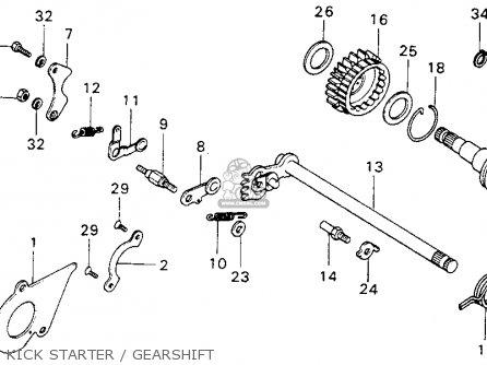 Honda Mt125 Elsinore 1974 Mt125k0 Usa Kick Starter   Gearshift