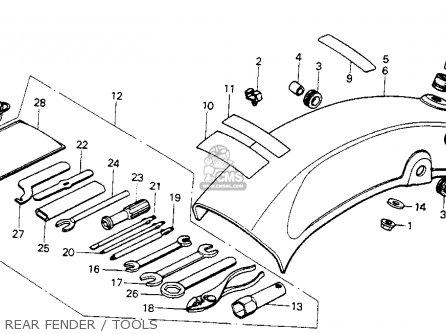 Honda Mt125 Elsinore 1974 Mt125k0 Usa Rear Fender   Tools