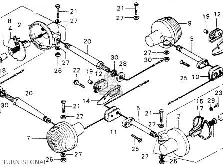Honda Mt125 Elsinore 1974 Mt125k0 Usa Turn Signal
