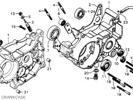 Honda Mt125 Elsinore K0 1974 Usa Crankcase