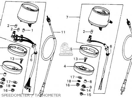 Honda Mt125 Elsinore K0 1974 Usa Speedometer   Tachometer