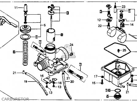 Honda Mt125 Elsinore K0 Usa Carburetor