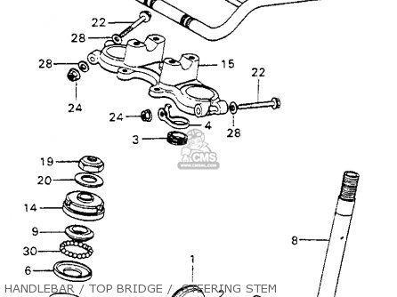 Honda Mt125 Elsinore K0 Usa Handlebar   Top Bridge    Steering Stem