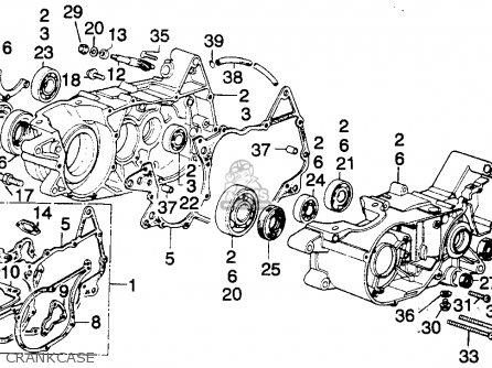 Honda MT250 ELSINORE 1974 K0 USA parts lists and schematicsCmsnl.com