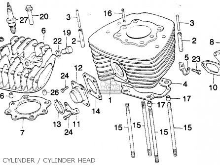 honda mt250 elsinore 1975 k1 usa parts list partsmanual ... honda cmx 250 wiring diagram