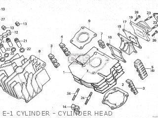 Honda Mt80sa E-1 Cylinder - Cylinder Head