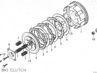 Honda Mt80sa E-3 Clutch