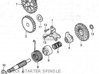 Honda Mt80sa E-4 Kick Starter Spindle