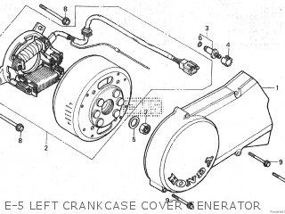 Honda Mt80sa E-5 Left Crankcase Cover Generator