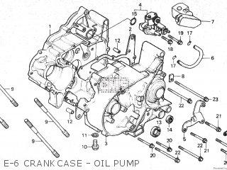 Honda Mt80sa E-6 Crankcase - Oil Pump