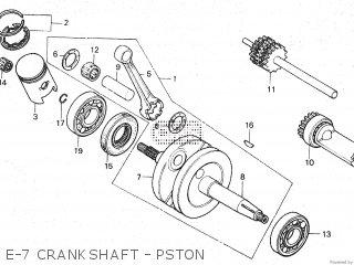 Honda Mt80sa E-7 Crankshaft - Pston