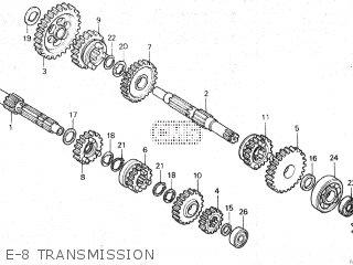 Honda Mt80sa E-8 Transmission