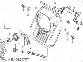 Honda Mt80sa F-1 Headlight