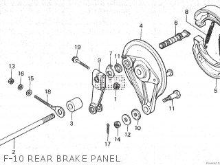 Honda Mt80sa F-10 Rear Brake Panel