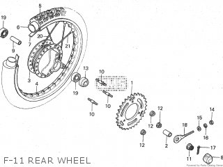 Honda Mt80sa F-11 Rear Wheel