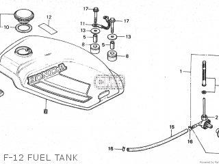 Honda Mt80sa F-12 Fuel Tank