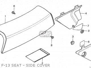 Honda Mt80sa F-13 Seat - Side Cover