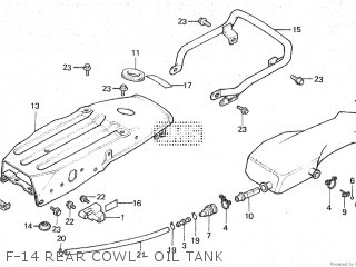 Honda Mt80sa F-14 Rear Cowl - Oil Tank
