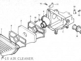 Honda Mt80sa F-15 Air Cleaner