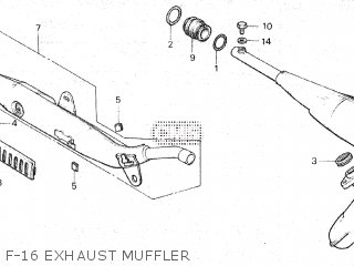 Honda Mt80sa F-16 Exhaust Muffler