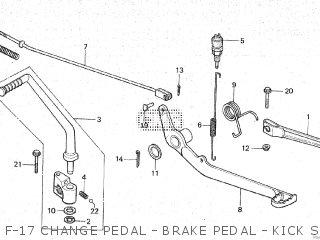 Honda Mt80sa F-17 Change Pedal - Brake Pedal - Kick Starter Arm