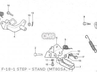 Honda Mt80sa F-18-1 Step - Stand mt80sa  F