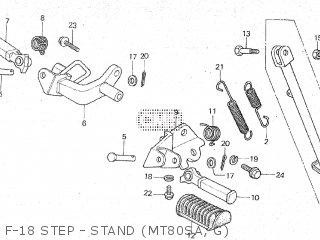 Honda Mt80sa F-18 Step - Stand mt80sa  G