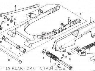 Honda Mt80sa F-19 Rear Fork - Chain Case
