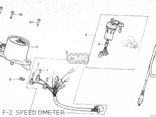 Honda Mt80sa F-2 Speedometer