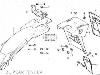 Honda Mt80sa F-21 Rear Fender