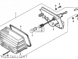Honda Mt80sa F-23 Taillight