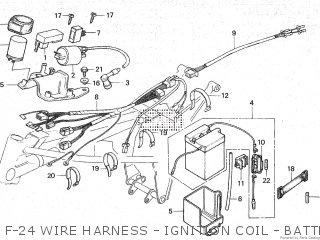 Honda Mt80sa F-24 Wire Harness - Ignition Coil - Battery