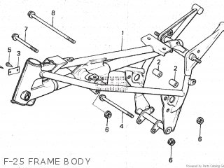 Honda Mt80sa F-25 Frame Body