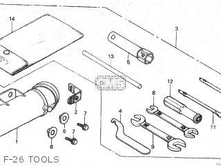 Honda Mt80sa F-26 Tools
