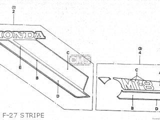 Honda Mt80sa F-27 Stripe