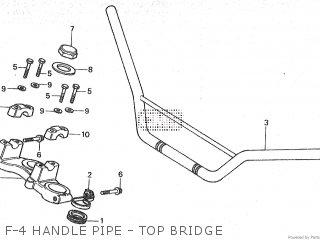 Honda Mt80sa F-4 Handle Pipe - Top Bridge