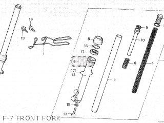 Honda Mt80sa F-7 Front Fork
