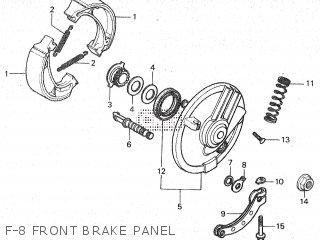 Honda Mt80sa F-8 Front Brake Panel