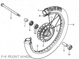 Honda Mt80sa F-9 Front Wheel