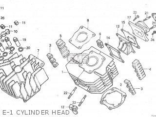 honda mtx80 1982 c e 1 cylinder head
