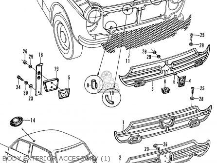Honda N600 Coupe Stationwagon kg Kf Ke Kb Kq Ks Kj Kp Kd Kt Ku Body Exterior Accessory 1