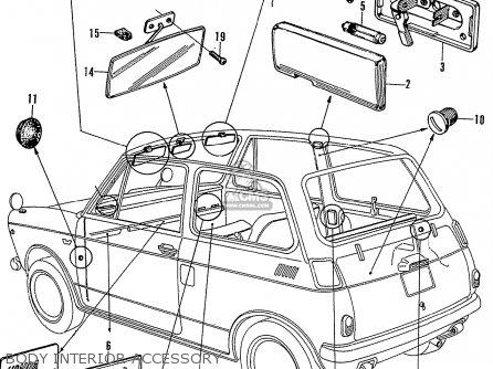 Honda N600 Coupe Stationwagon kg Kf Ke Kb Kq Ks Kj Kp Kd Kt Ku Body Interior Accessory