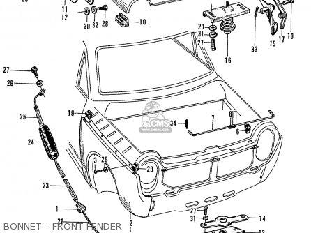 Honda N600 Coupe Stationwagon kg Kf Ke Kb Kq Ks Kj Kp Kd Kt Ku Bonnet - Front Fender