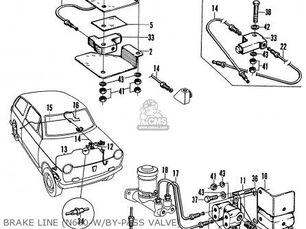 Honda N600 Coupe Stationwagon kg Kf Ke Kb Kq Ks Kj Kp Kd Kt Ku Brake Line n600-w by-pass Valve